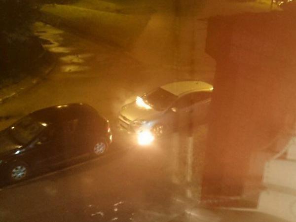 На Пятилеток после взрыва сгорели две машины