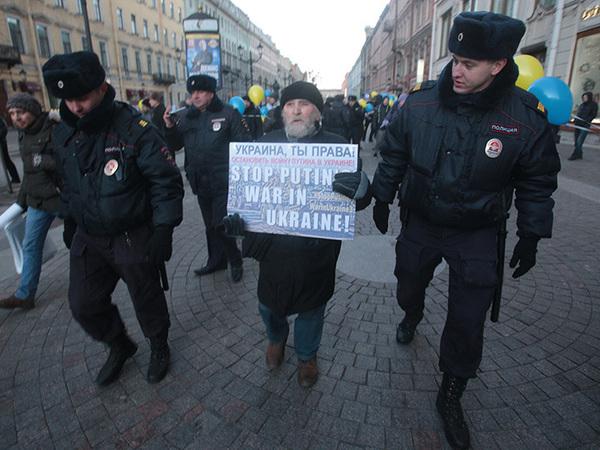 На Невском полиция задержала активиста