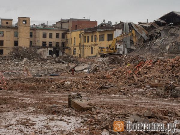 Снос фабрики Крупской завершат к концу марта