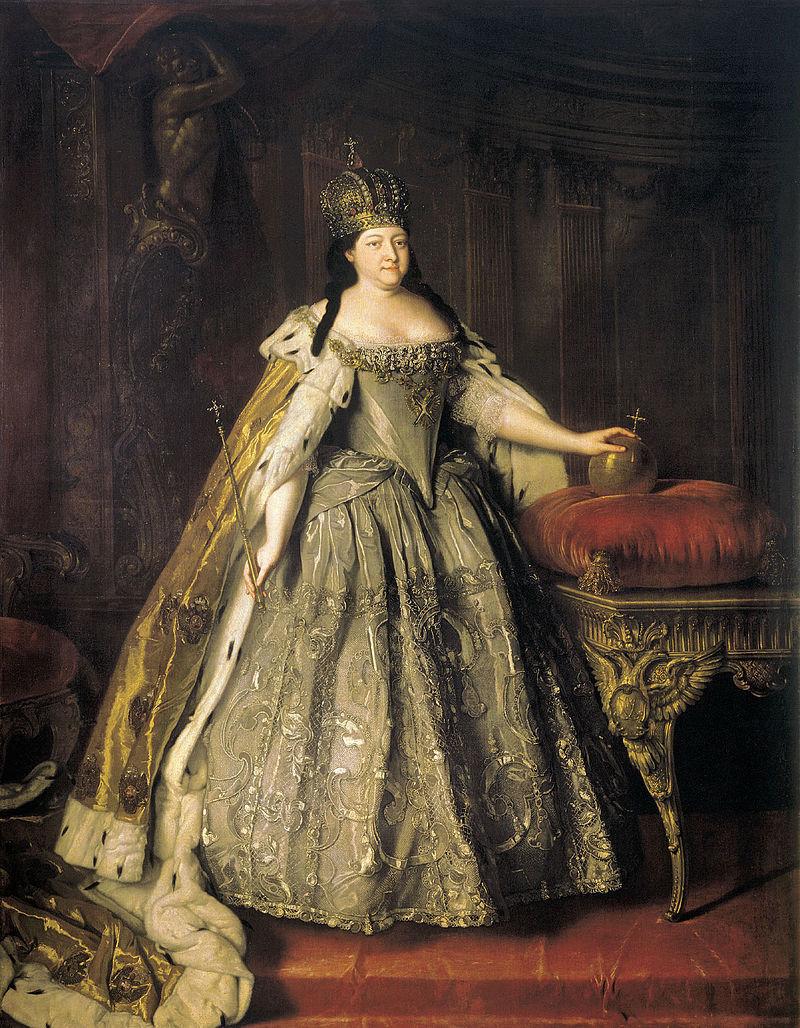 Louis Caravaque, Portrait of Empress_Anna Ioannovna (1730)