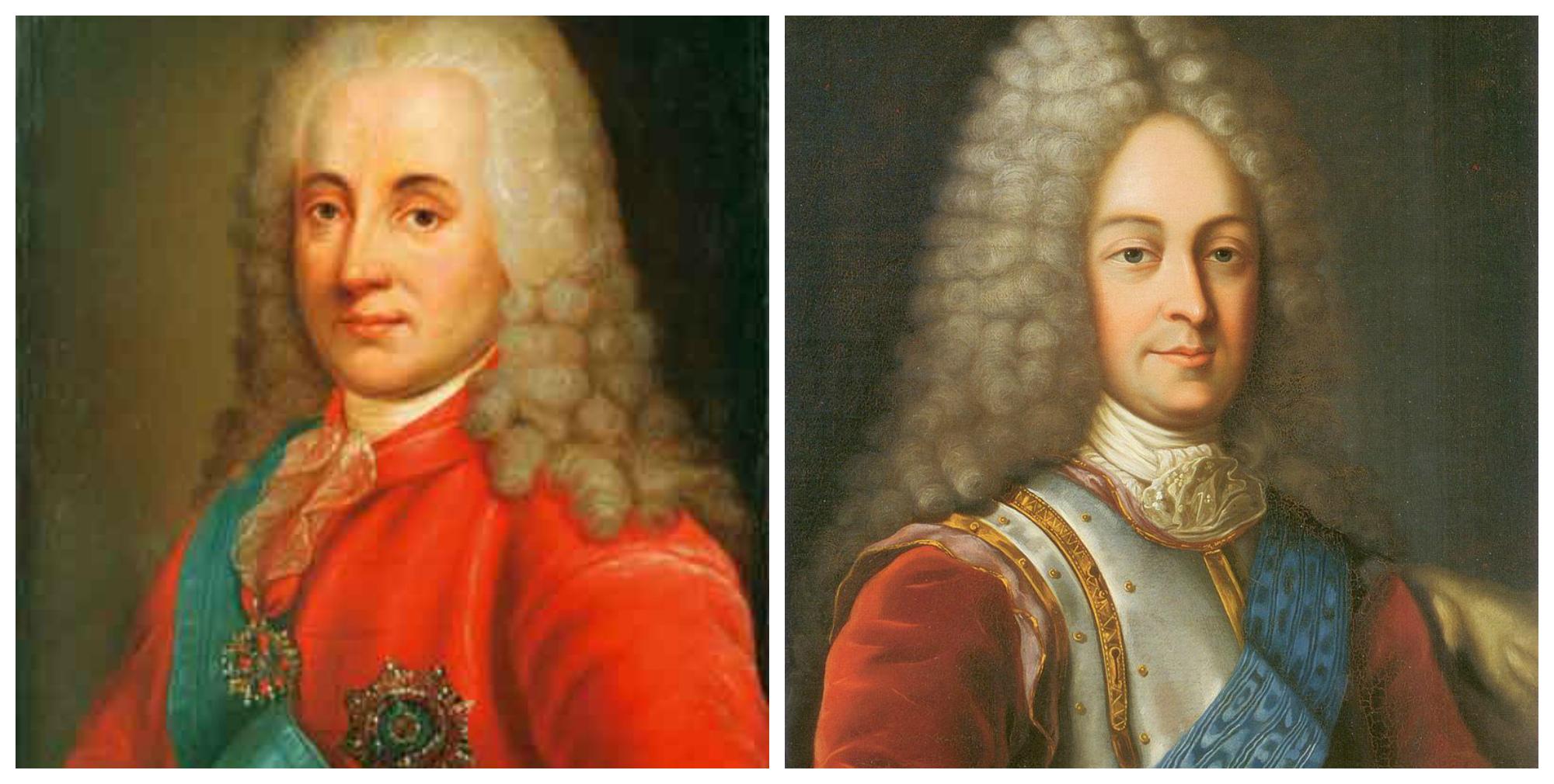 Князь Дмитрий Михайлович Голицын и князь Василий Лукич Долгоруков, одни из лидеров Верховного тайного совета