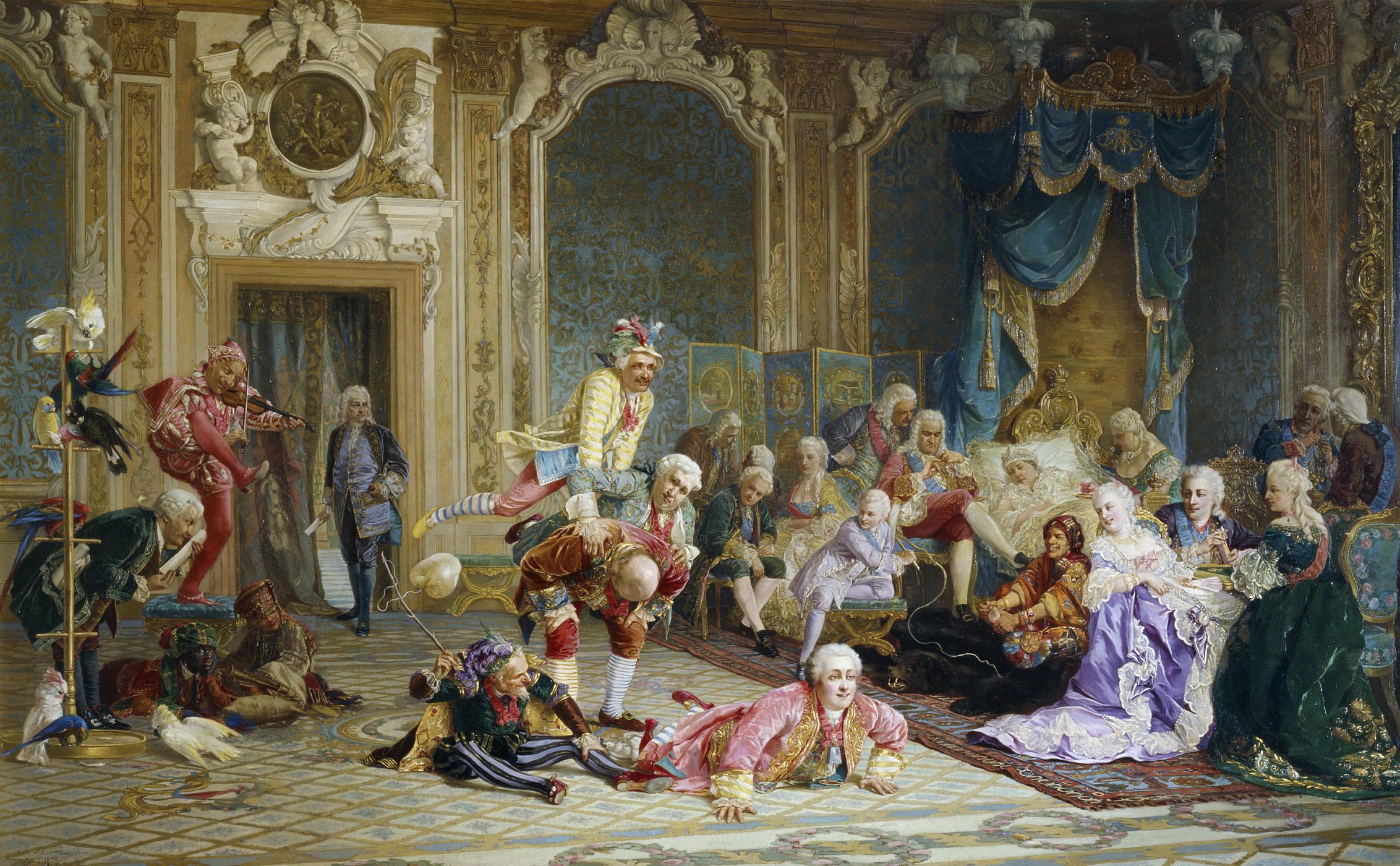В. И. Якоби. Шуты при дворе императрицы Анны Иоанновны. 1872.