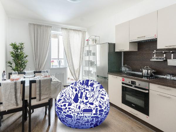 При покупке квартиры с мебелью «Петербургская Недвижимость» дарит кресло-бинбэг