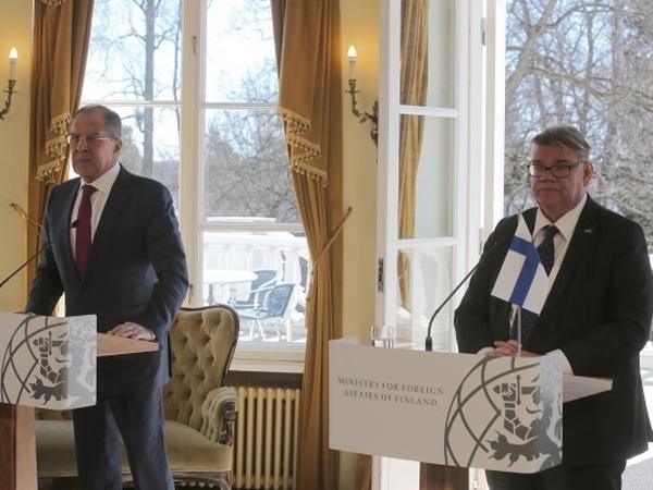 Министры иностранных дел России и Финляндии Сергей Лавров и Тимо Сойни, фото: mid.ru