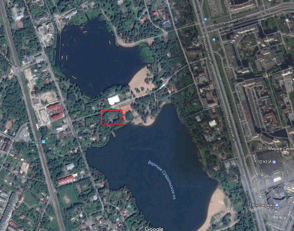 спорный участок, скриншот страницы Google.Maps