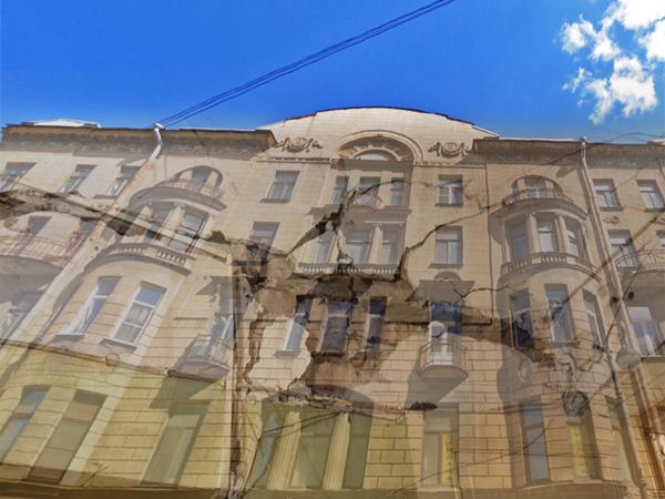 Как пошатнувшийся дом на Каменноостровском подперли визуальным осмотром