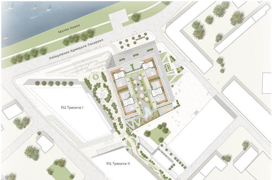 One Trinity Place, план застройки с сайта проекта