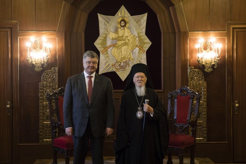 Президент Украины Петр Порошенко со Вселенским Патриархом Варфоломеем/Пресс-служба президента Украины