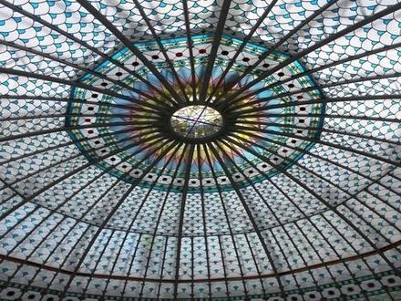 Огромный витраж-купол восстановили в Банке для внешней торговли на Большой Морской
