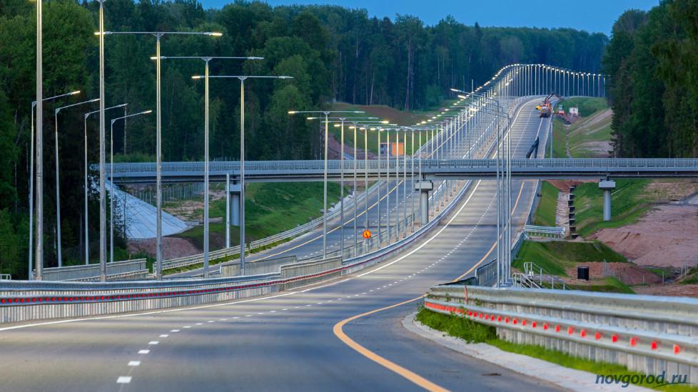 Участок автодороги М-11 в Тверской и Новгородской областях