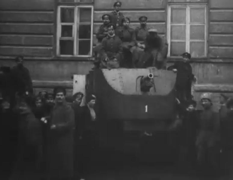 кадр из фильма Дзиги Вертова «Годовщина Революции»