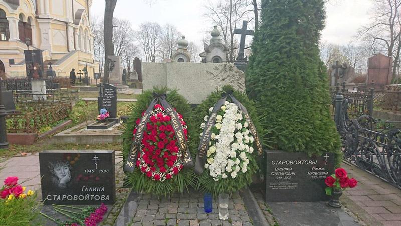 Могила Галины Старовойтовой, 20 ноября 2018 года