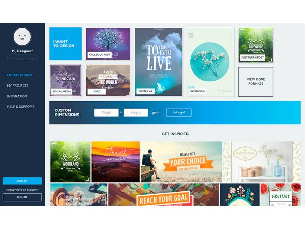 Скриншот с сайта crello.com/ru/