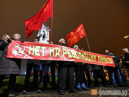 «Ильич, проснись!» На несогласованной акции на площади Ленина задержали активиста