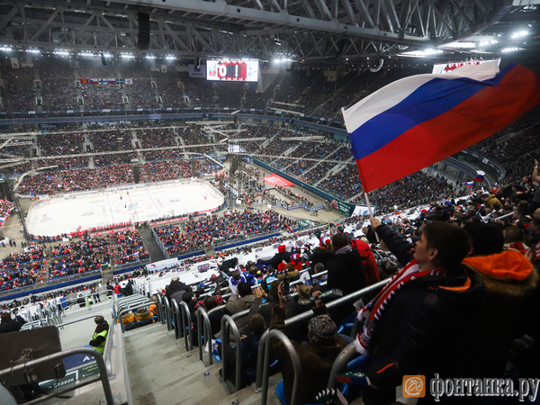 Как российские хоккеисты финнов громили на «Газпром Арене»