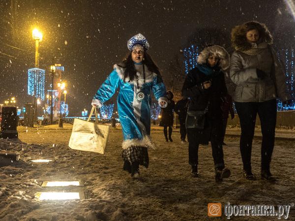 Петербург в предвкушении праздников и снегопада