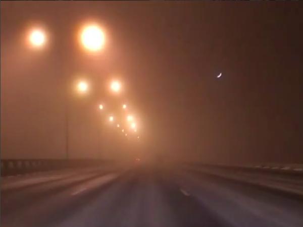 Петербург окутан морозным туманом