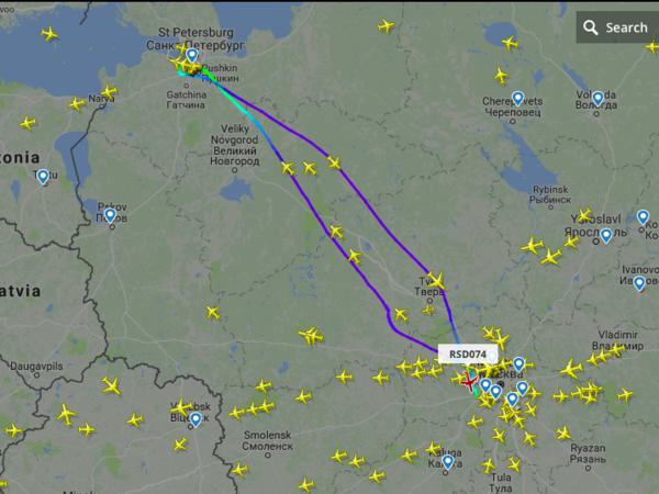 «Кокаиновый» самолет прошел над Пулково