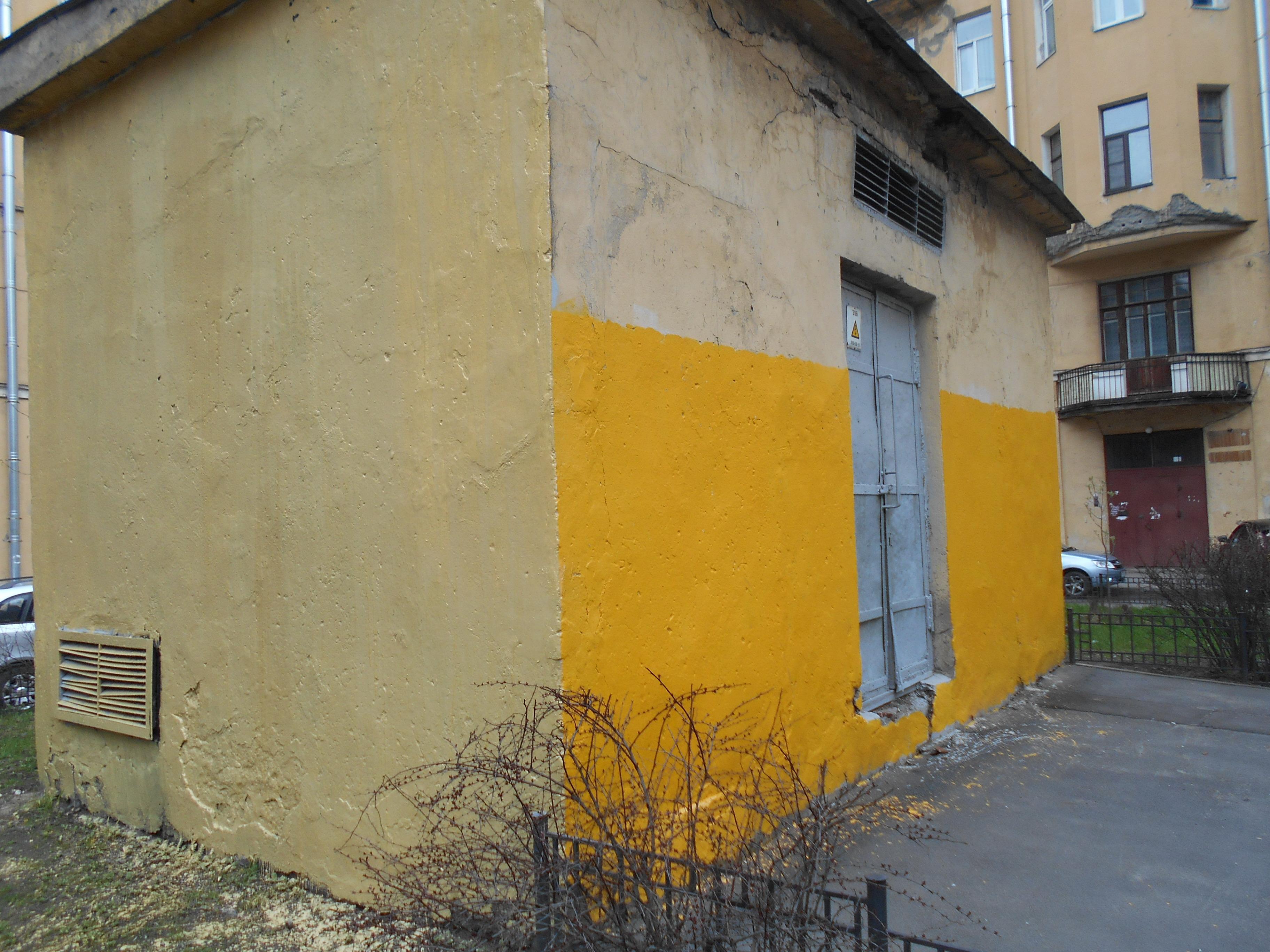 Администрация Центрального района: «Фасад очищен от очередной вторичной репродукции».