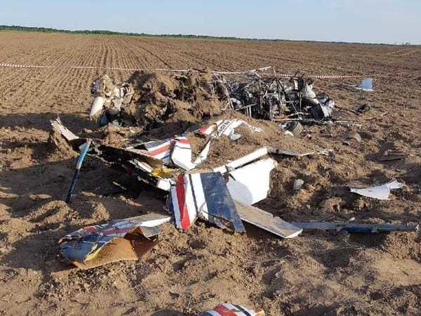 СК показал фото упавшего самолета в Ленобласти