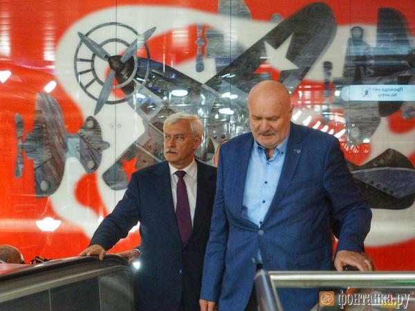 Губернатор Петербурга принял участие в церемонии открытия «Беговой» и «Новокрестовской»