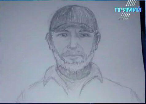 Фоторобот убийцы, опубликованный украинской полицией