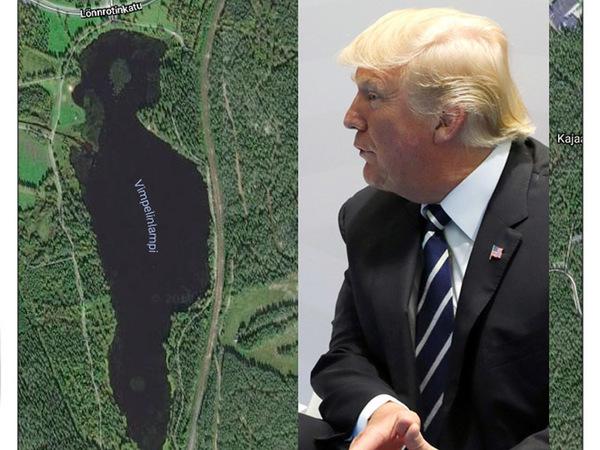 В Финляндии обнаружилось озеро в форме Дональда Трампа
