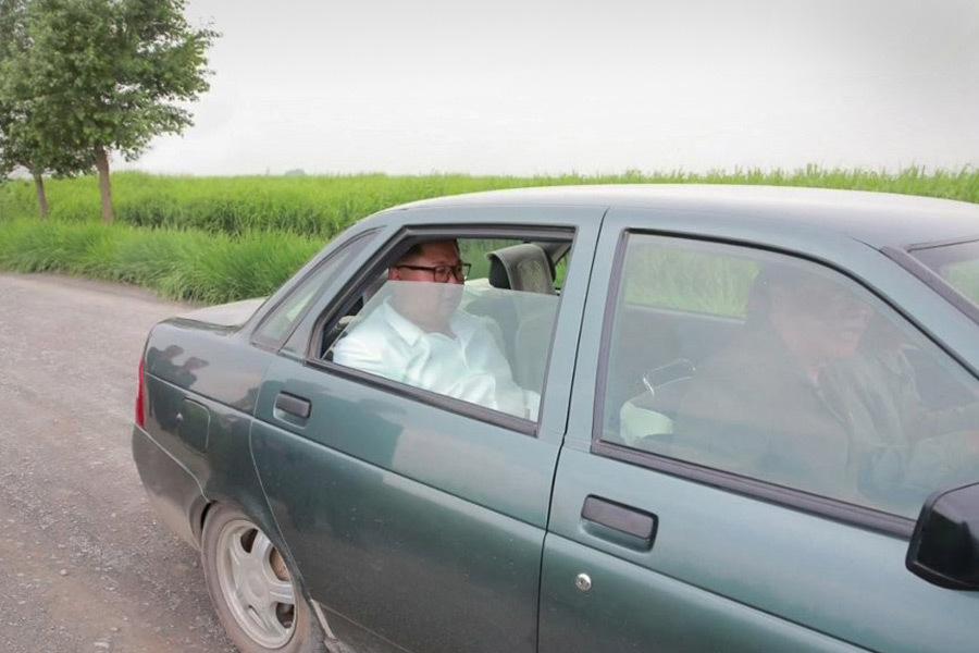 Ким Чен Ын отправился в поля на зеленой «Ладе Приоре» (Иллюстрация 1 из 1) (Фото: Yonhap News Agency)