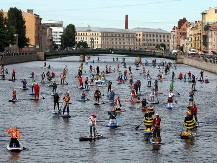 Инструкция «Фонтанка-SUP»: как стать участником водного карнавала