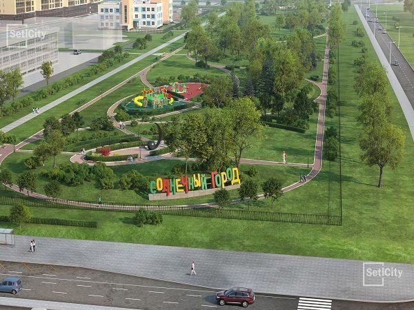 В парке возле ЖК «Солнечный город» закончены основные строительные работы