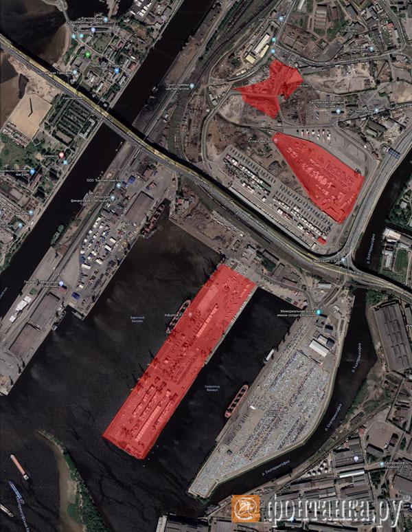 Расположение участков (зоны размещения участков выделены красным)