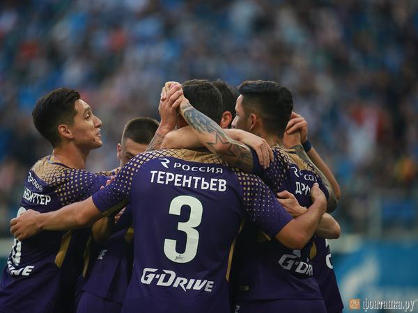 Фиолетовый «Зенит» обыграл «Кайрат» с Аршавиным в составе. Маркизио тоже вышел на поле