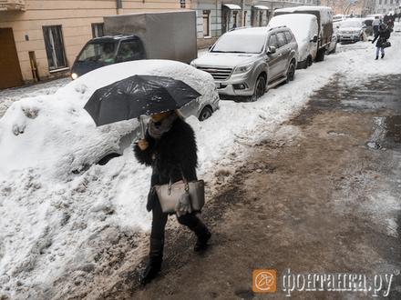 Смольный хочет отдать дворовый снег в одни руки