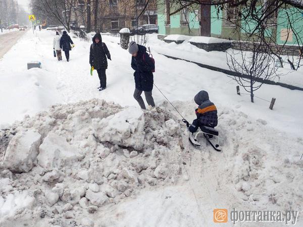 «Город у нас убирают хорошо»: Боты «из Приморья» пришли топить снег в Петербурге