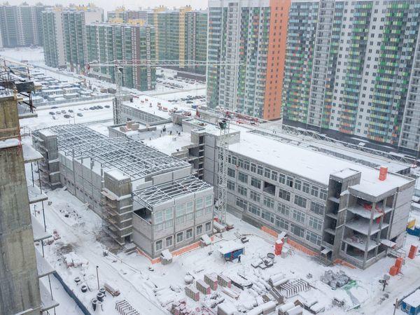 Строительство школы в ЖК «Краски лета» ведется активными темпами