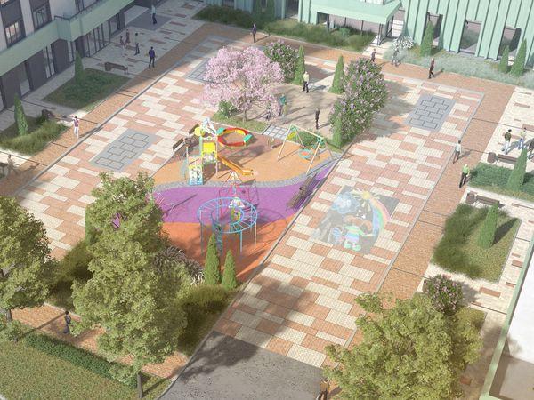 Открываем Америку: ГК «КВС» представил проект двора 2 очереди ЖК «Континенты»