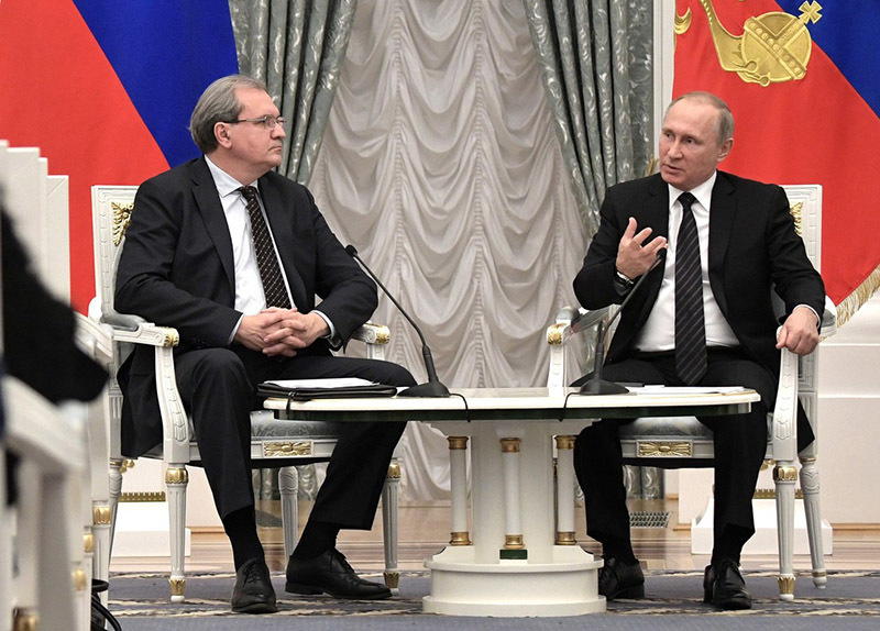 Валерий Фадеев и Владимир Путин