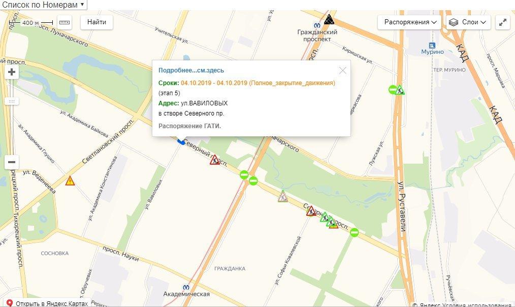 Скриншот схемы ГАТИ