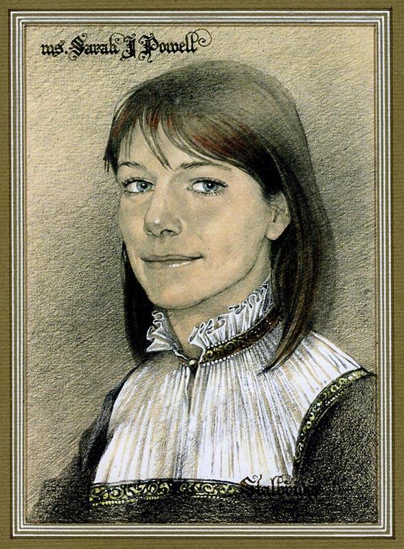 Сара Пауэлл. Портрет жены художника