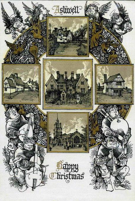 Ашвилл на открытке, сделанной Романом Писаревым. В центре – дом Эразмуса и Биди