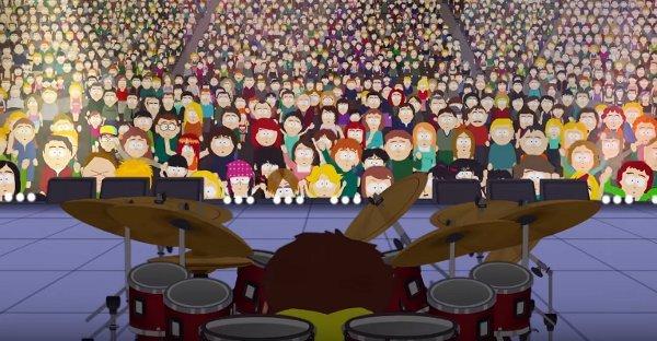 Кадр из видео в YouTube на канале South Park Studios