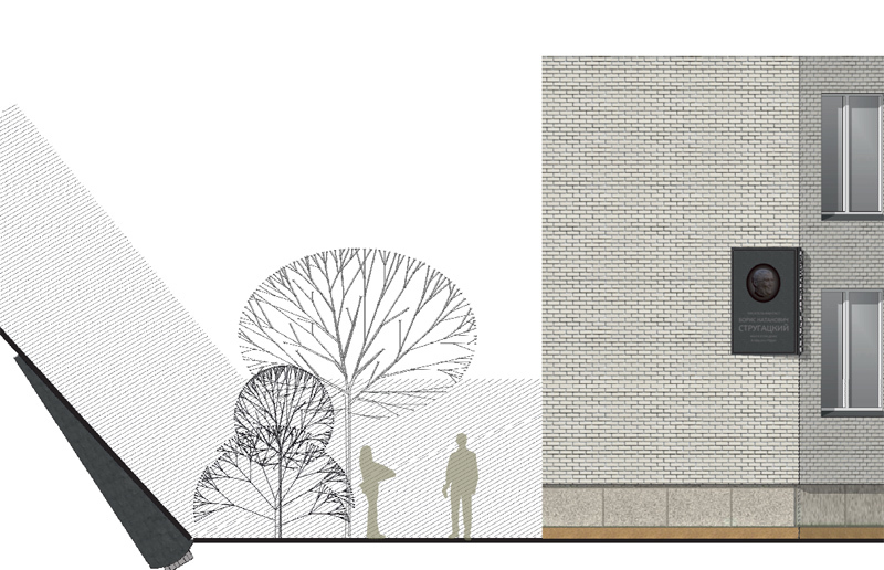 Проект создали архитектор Алексей Сухов и скульптор Татьяна Каракозова при участии архитектора Всеволода Мельникова