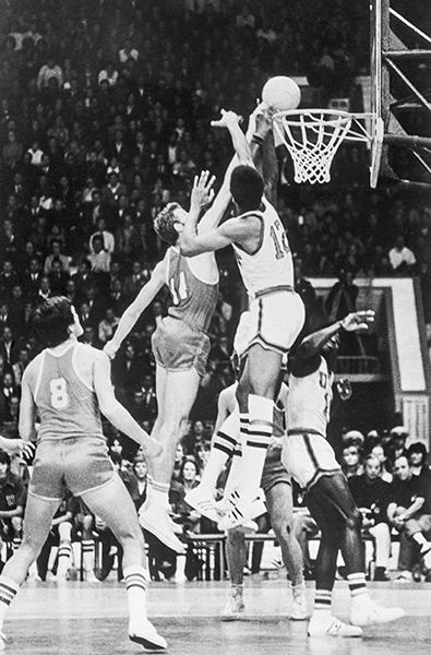 24 августа 1973 г. Матч США - СССР - 75:67. А. Болошов, А. Белов, М. Лукас