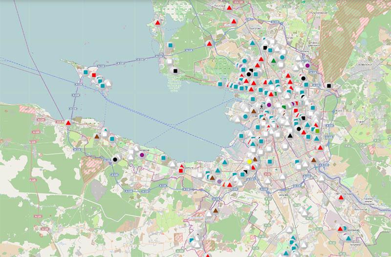 Карта уборки улиц Комитета по благоустройству