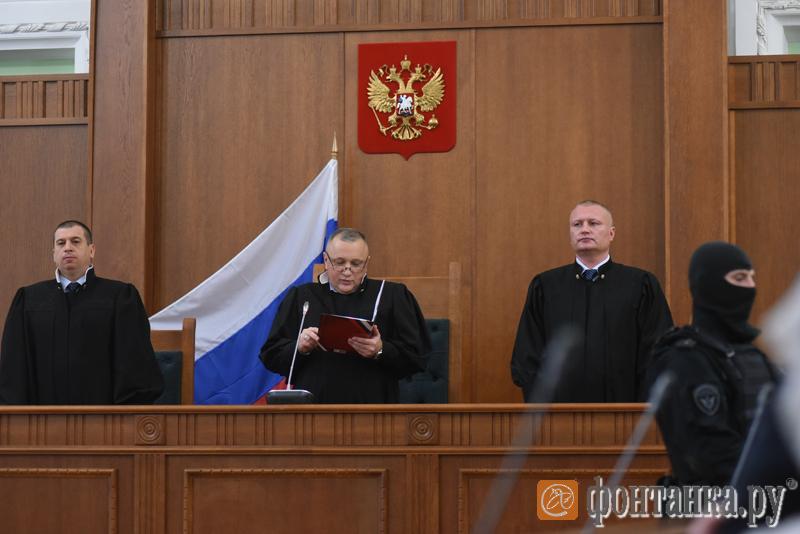 Председательствующий судья Андрей Морозов на оглашении приговора по делу о теракте в метро Петербурга