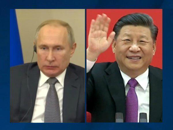 Владимир Путин и Синь Цзиньпин//кадр из трансляции/ТАСС
