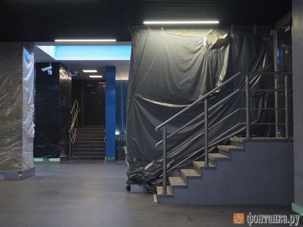 Обвалившаяся плитка на «Новокрестовской» и «Беговой» споткнулась о 15 млн рублей и вышла на губернаторский уровень