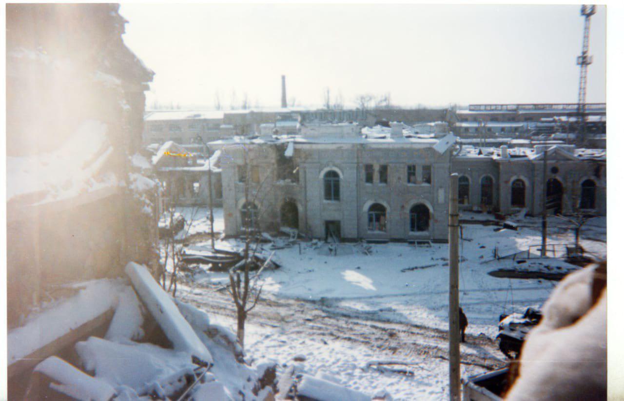 Район железнодорожного вокзала, Грозный, 1995 год