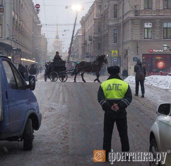 Съёмки фильма на Гороховой улице