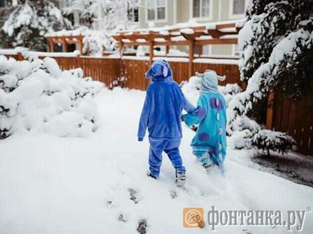 Сугробы по колено, обледенелые тротуары и снежное месиво на дороге. Нет, это не Петербург, это Сиэтл